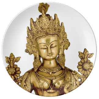 Tara Buddha Buddhist Goddess Yoga Tibet Art Peace Plate