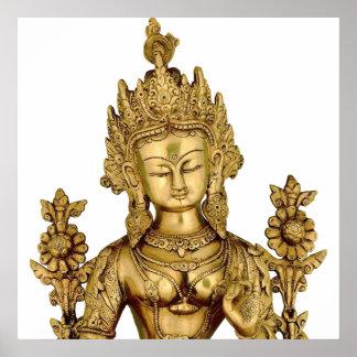 Tara Buddha Buddhist Goddess Yoga Tibet Art Peace Poster
