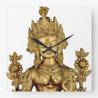 Tara Buddha Buddhist Goddess Yoga Tibet Art Peace Square Wall Clock