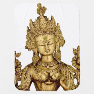 Tara Buddha Buddhist Goddess Yoga Tibet Art Peace Stroller Blanket