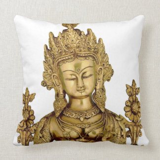 Tara Buddha Buddhist Goddess Yoga Tibet Art Peace Throw Pillow