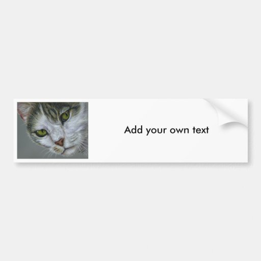 Tara - Cat Art Bumper Sticker