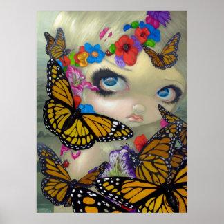 Tara fairy ART PRINT butterfly fairy big eyes art