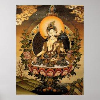 Tara female Buddha print