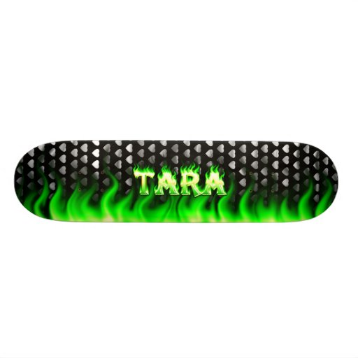 Tara green fire Skatersollie skateboard. Skateboards
