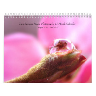 Tara Lemana Macro Water Photography Calendar