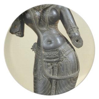 Tara, Nalanda, Bihar, Pala dynasty (stone) Dinner Plate