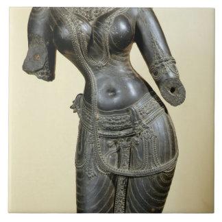 Tara, Nalanda, Bihar, Pala dynasty (stone) Large Square Tile