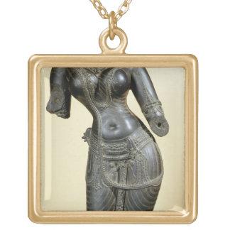Tara, Nalanda, Bihar, Pala dynasty (stone) Square Pendant Necklace