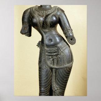 Tara, Nalanda, Bihar, Pala dynasty (stone) Poster