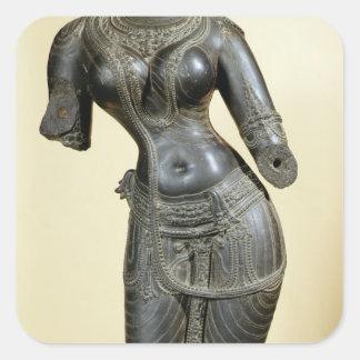 Tara, Nalanda, Bihar, Pala dynasty (stone) Square Sticker