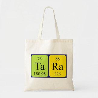 Tara periodic table name tote bag