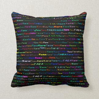Tara Text Design I Throw Pillow