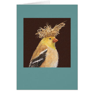Tara the goldfinch card