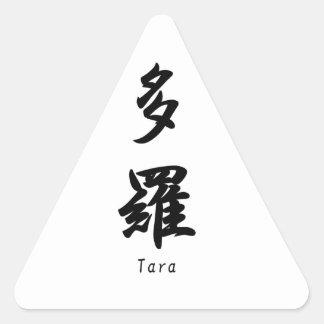Tara tradujo a símbolos japoneses del kanji calcomanías trianguladas personalizadas