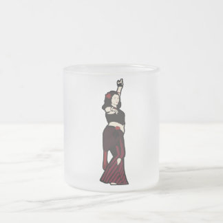 Tara Tribal Belly Dancer Frosted Glass Coffee Mug