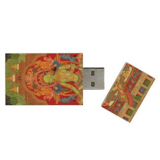 Tara verde: Diosa budista tibetana del protector Pen Drive De Madera USB 3.0