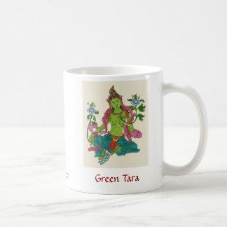 Tara verde tazas de café
