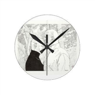 Tara y Ed Relojes De Pared