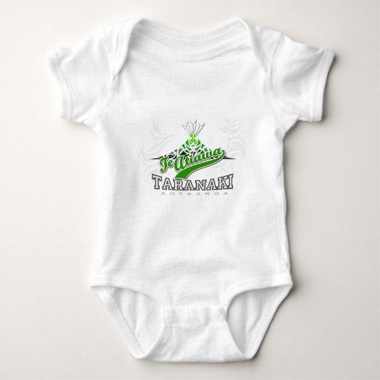 Taranaki Maunga white Baby Bodysuit