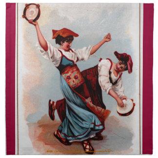 """""""Tarantela: Una danza popular italiana """" Servilleta"""