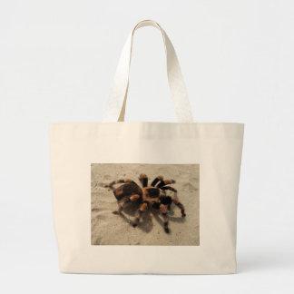 Tarantula brachypelma red knee poisonous large tote bag