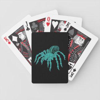 Tarantula esquelético barajas de cartas