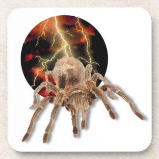 "Tarantula Lightning Cork Coaster (6) 3.8x3.8"""
