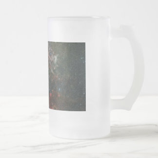 Tarantula Nebula and its surroundings Frosted Glass Beer Mug