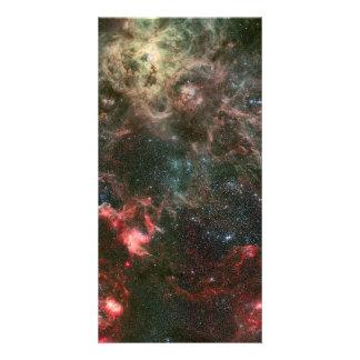 Tarantula Nebula and its surroundings Custom Photo Card