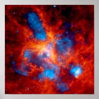 Tarantula Nebula Chandra X-Ray Poster