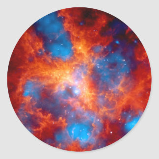 Tarantula Nebula Colorful Infrared Space Photo Classic Round Sticker