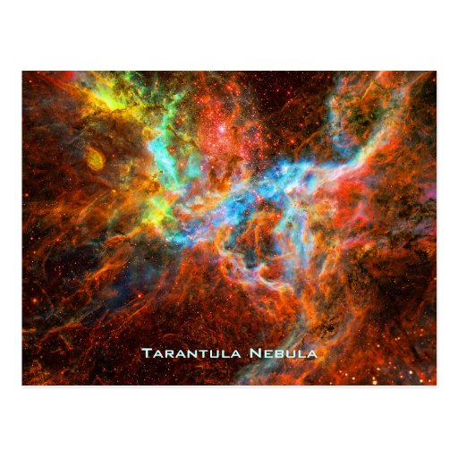 Tarantula Nebula, energetic star formation Post Card