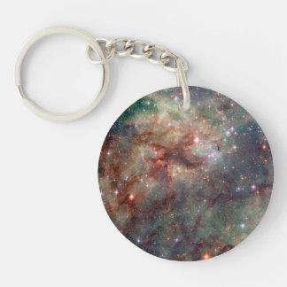 Tarantula Nebula Hubble Space Double-Sided Round Acrylic Keychain