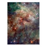 Tarantula Nebula Hubble Space Post Card