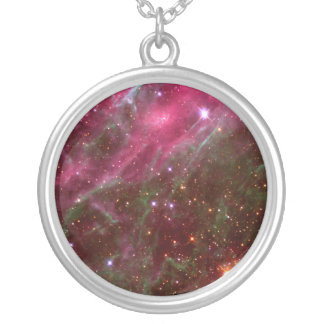 Tarantula Nebula (Hubble Telescope) Silver Plated Necklace