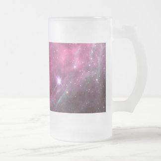 Tarantula Nebula in plum NASA Frosted Glass Beer Mug