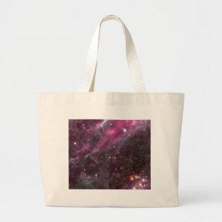Tarantula Nebula in plum NASA Large Tote Bag