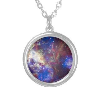 Tarantula Nebula Round Pendant Necklace