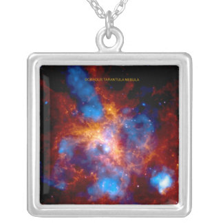 Tarantula Nebula Silver Plated Necklace