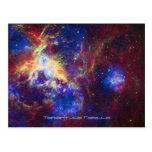 Tarantula Nebula Star Forming Gas Cloud Sculpture Post Cards