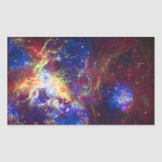 Tarantula Nebula Star Forming Gas Cloud Sculpture Rectangular Sticker