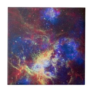 Tarantula Nebula Star Forming Gas Cloud Sculpture Small Square Tile