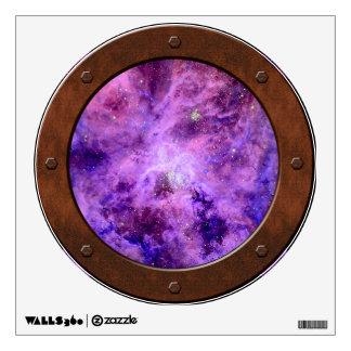 Tarantula Nebula Steampunk Porthole Window Room Graphic