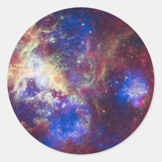 Tarantula Nebula Round Sticker