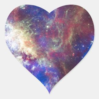 Tarantula Nebula Heart Sticker