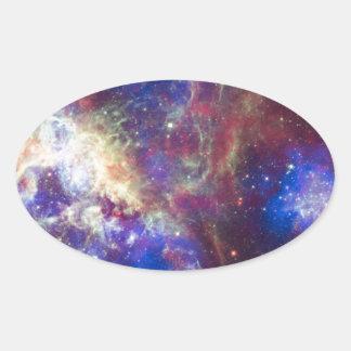 Tarantula Nebula Oval Stickers