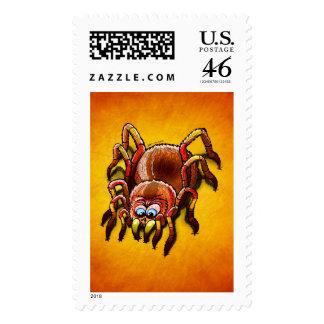 Tarantula que hunde sus colmillos en la carne fres sellos