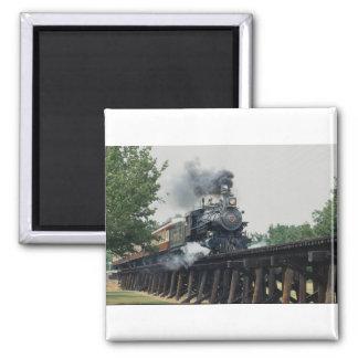 Tarantula Railroad, Fort Worth, Texas, U.S.A. 2 Inch Square Magnet