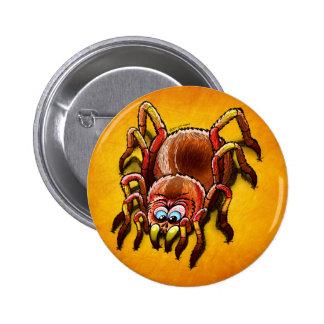 Tarantula Sinking its Fangs into Fresh Flesh Buttons
